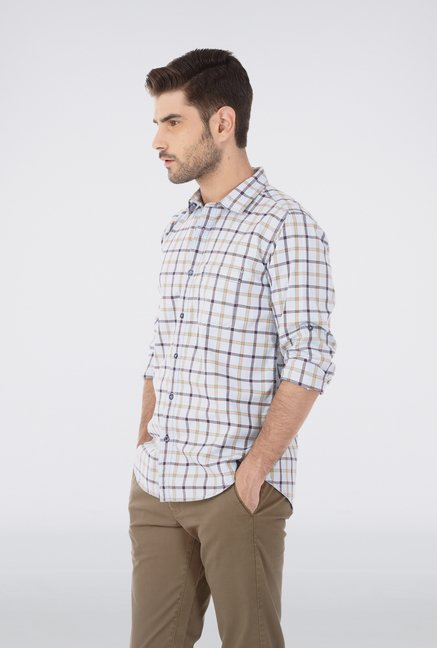 Basics Grey Sheperd Check Shirt
