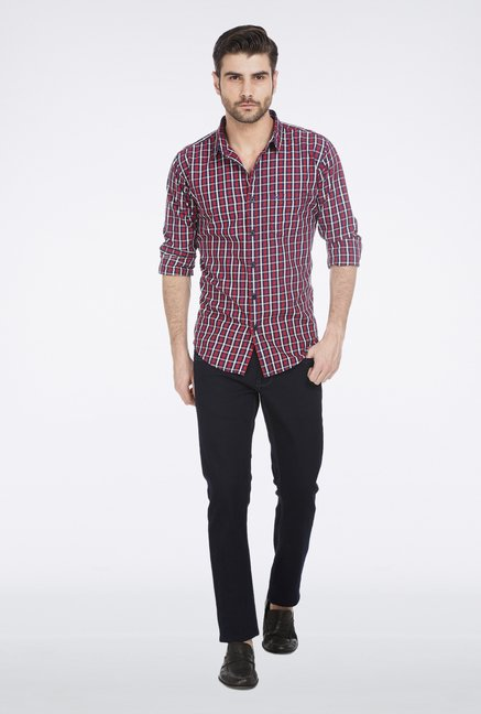 Basics Red Twill Weave Shirt