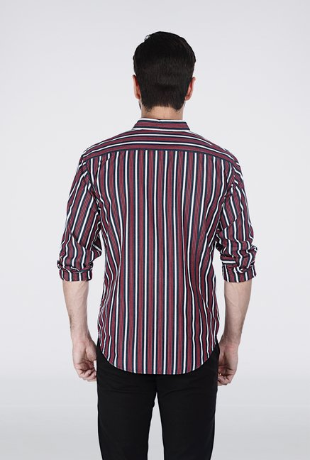 Basics Red Striped Shirt