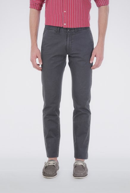 Basics Grey Soft Washed Chinos