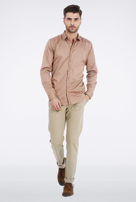 Basics Khaki Soft Washed Chinos