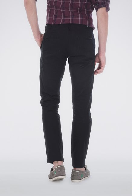 Basics Black Soft Washed Chinos