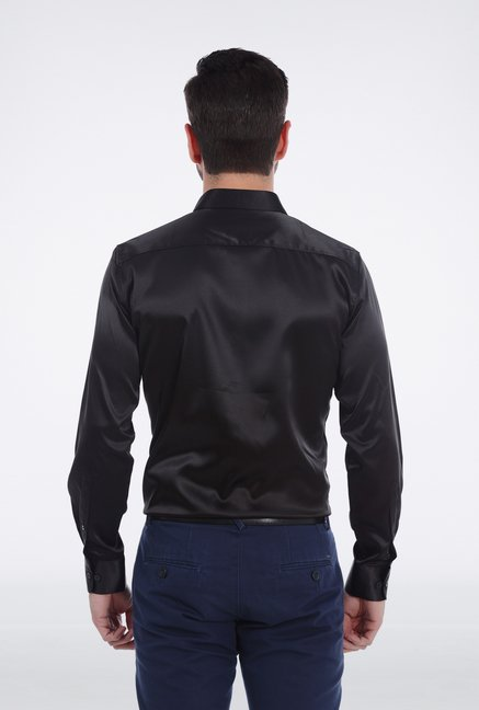 Basics Black Slim Fit Formal Shirt