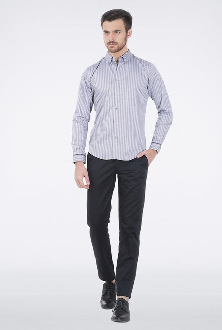 Basics Navy Striped Shirt