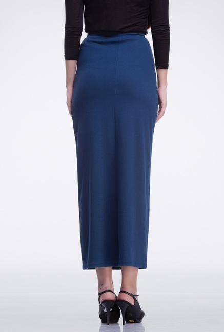 Femella Navy Column Skirt