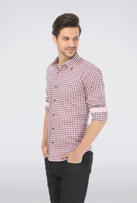 Basics Pink Checked Shirt