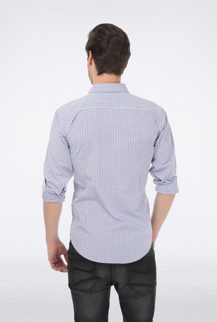 Basics Blue Checked Formal Shirt