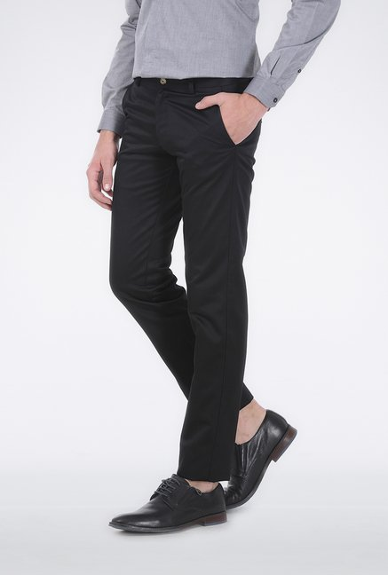Basics Black Satin Formal Trouser