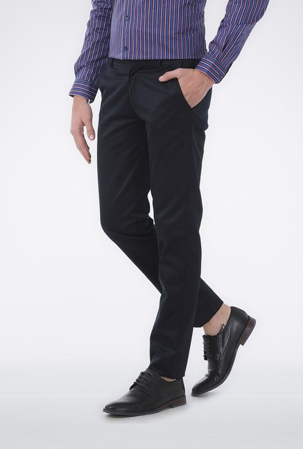 Basics Navy Satin Formal Trouser