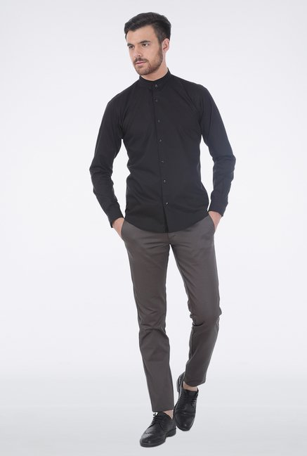 Basics Mid Grey Satin Formal Trouser