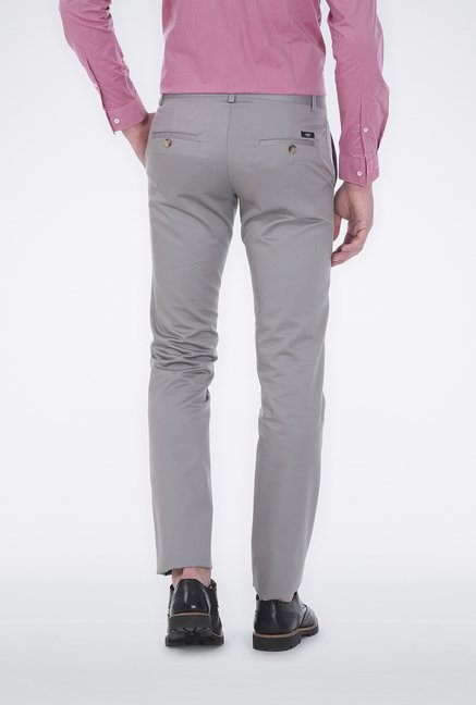 Basics Grey Satin Formal Trouser
