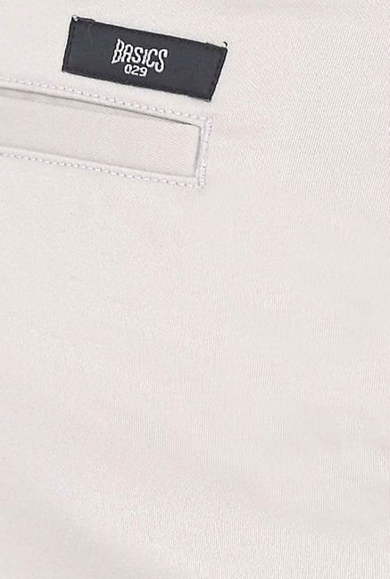 Basics Ecru Satin Formal Trouser