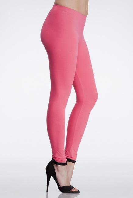 Femella Pink Skinny Fit Cotton Leggings