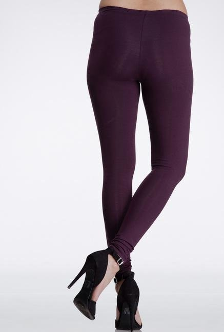 Femella Wine Skinny Fit Cotton Leggings
