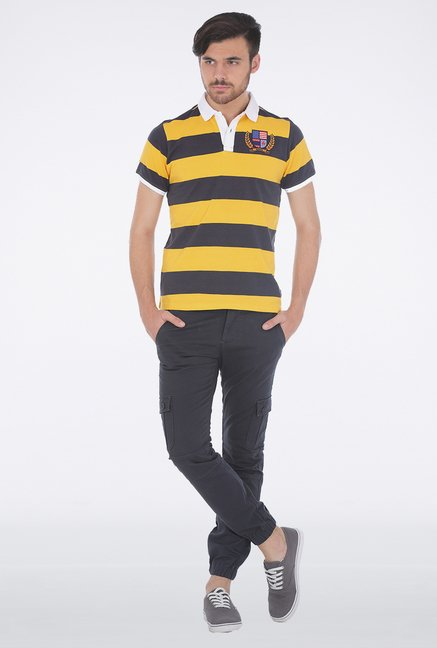 Basics Yellow Polo T Shirt