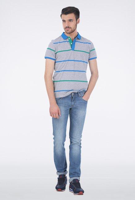 Basics Grey Polo T Shirt
