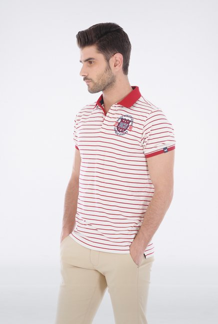 Basics Ecru Polo T Shirt