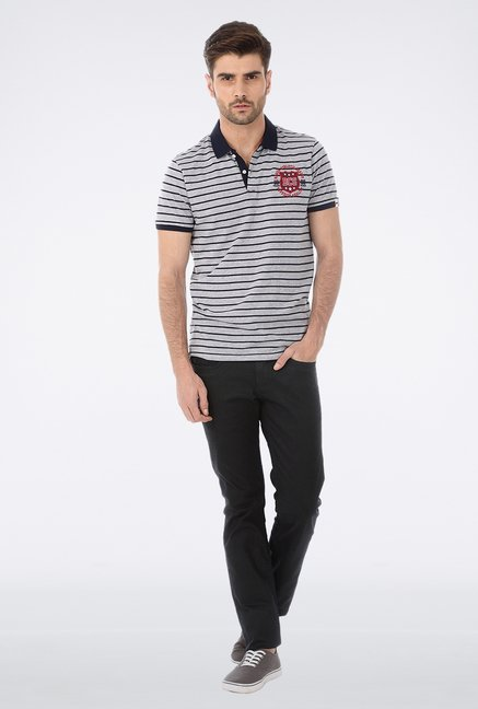 Basics Grey Polo T Shirt