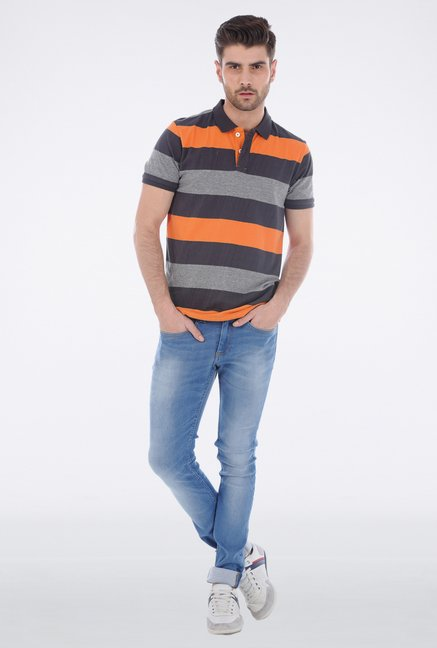 Basics Orange Polo T Shirt
