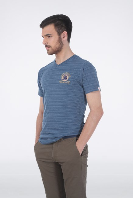 Basics Blue V-Neck T-Shirt