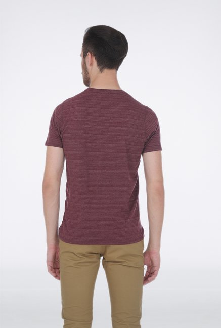 Basics Red V neck T Shirt