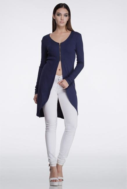Femella Navy Rib Cover Up Cardigan