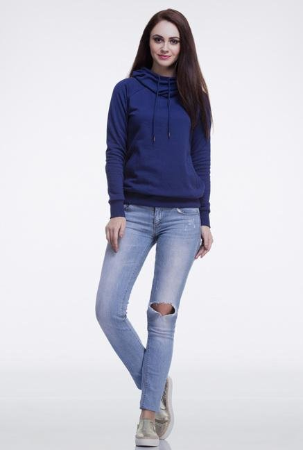 Femella Navy Hooded Sweatshirt