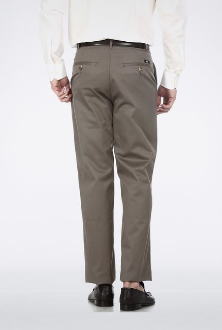 Basics Mid Grey Formal Trouser