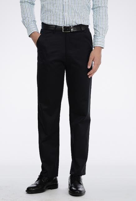 Basics Black Poly Cotton Trouser