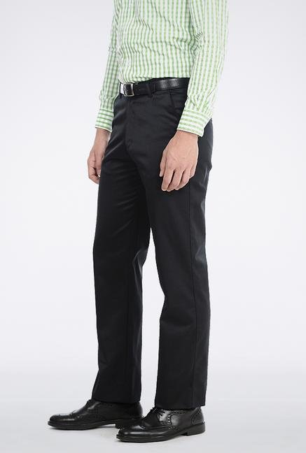 Basics Steel Grey Poly Cotton Trouser