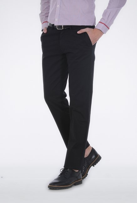 Basics Black Slim Fit Trouser