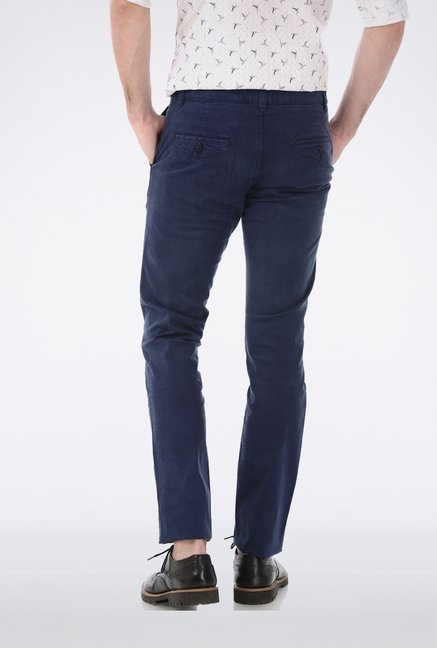 Basics Navy Denim Trouser