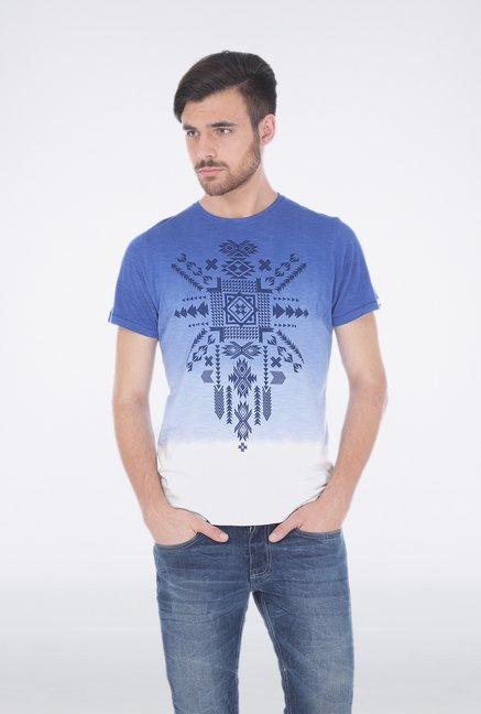 Basics Blue Crew Neck T Shirt
