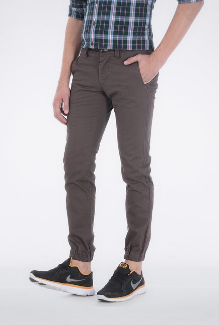 Basics Dark Grey Low Rise Trouser