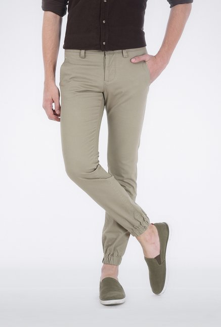 Basics Light Grey Low Rise Trouser