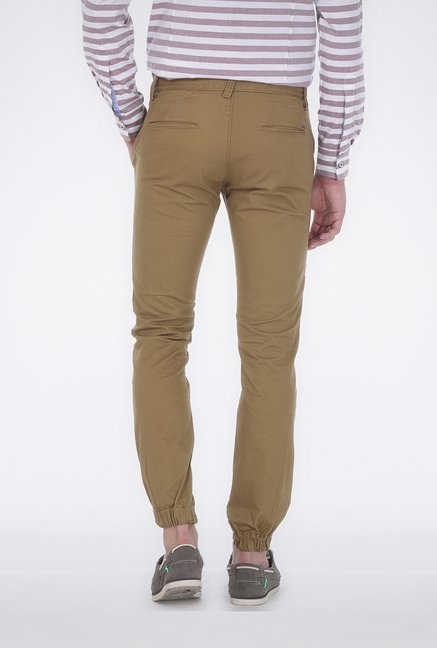 Basics Khaki Low Rise Trouser