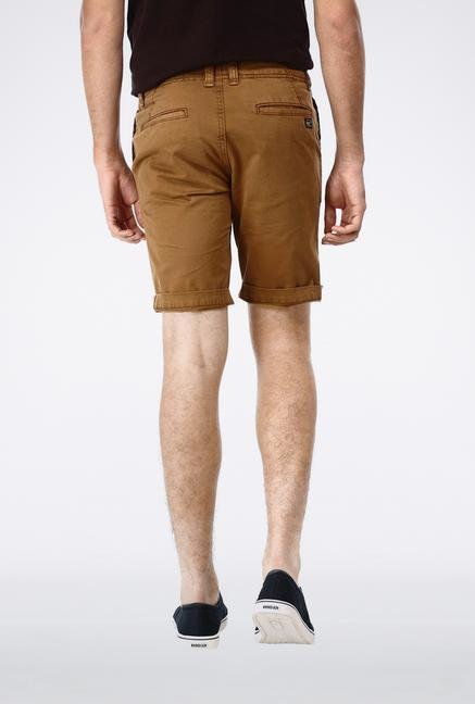 Basics Brown Knee Length Shorts