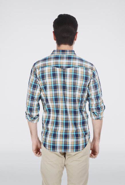 Basics Aqua Cotton Shirt