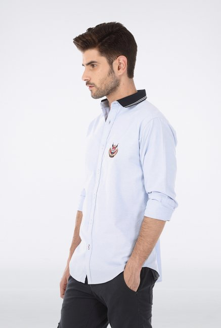 Basics Blue Oxford Weave Shirt
