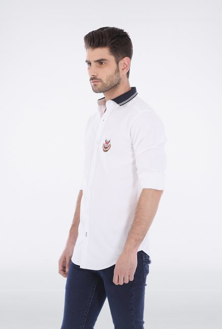 Basics White Oxford Weave Shirt