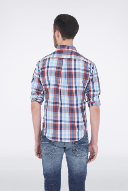 Basics Blue Checkered Shirt