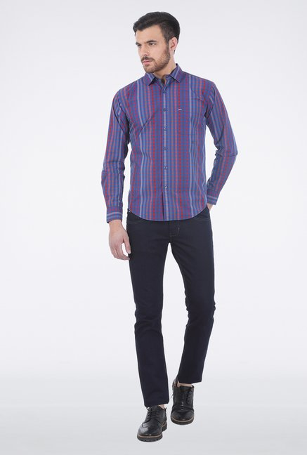 Basics Red Checkered Shirt