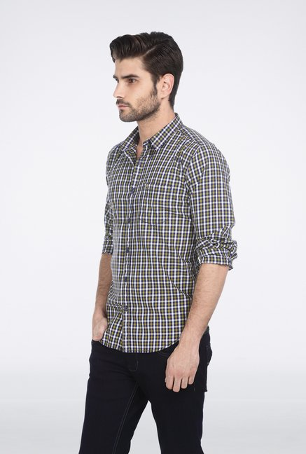 Basics Green Shepherd Check Shirt