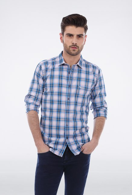 Basics Aqua Plaid Shirt