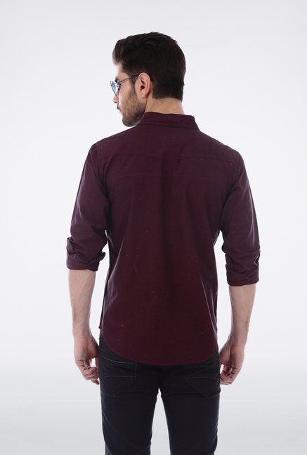 Basics Red Casual Shirt