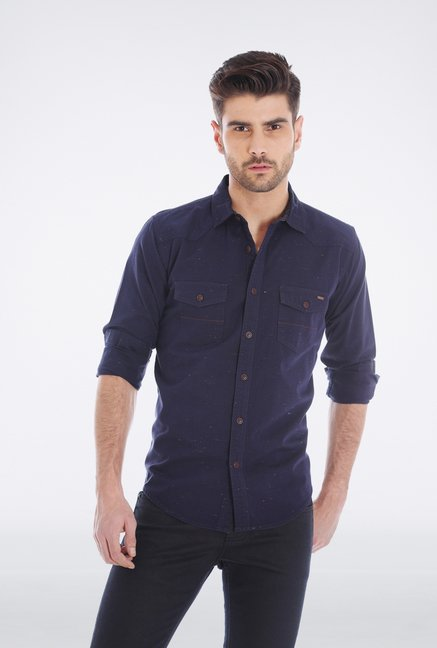 Basics Purple Casual Shirt