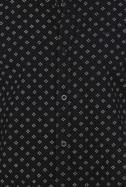 Basics Black Motif Printed Shirt