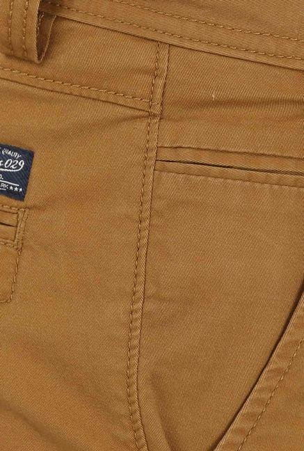 Basics Mid Brown Casual Trouser