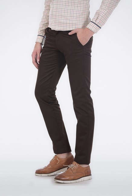 Basics Coffee Tapered Trouser