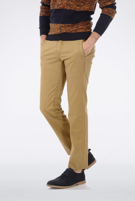 Basics Khaki Casual Trouser